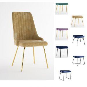 Valgomojo kėdė LEA sv M (pasirenkamos metalinės kojelės)