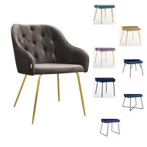 Valgomojo kėdė -krėslas STAR M (pasirenkamos metalinės kojelės)