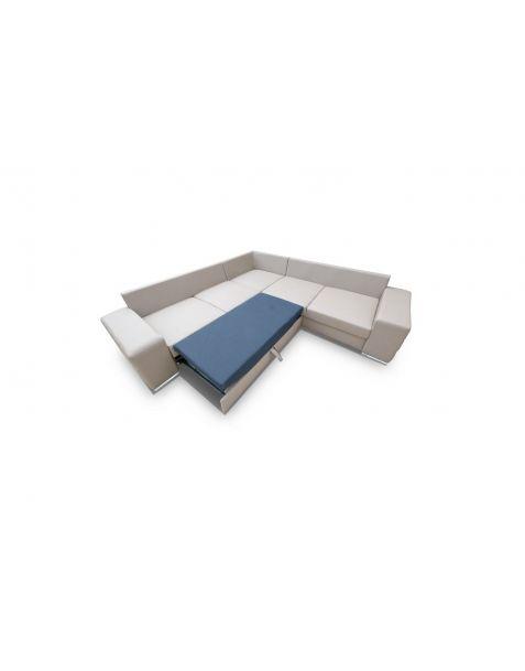 Kampinė sofa AVANT MAX corner 260x260 su miegojimo mechanizmu ir patalynės dėže