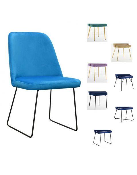 Valgomojo kėdė ELLY M (pasirenkamos metalinės kojelės)