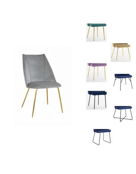 Valgomojo kėdė IVONA M (pasirenkamos metalinės kojelės)