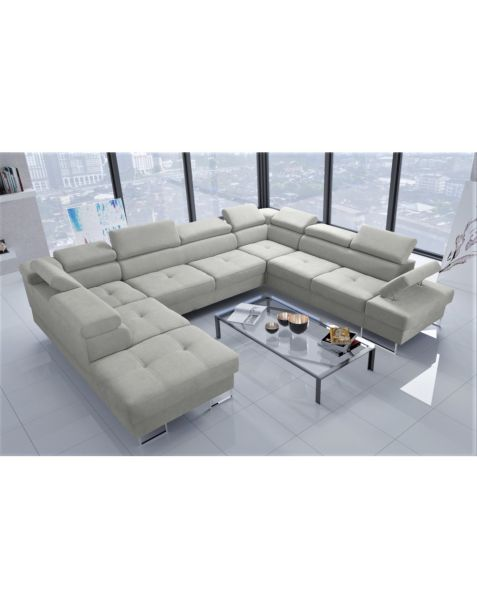 Kampinė sofa GLAXY MAX I 220x350x280 su miegojimo mechanizmu ir patalynės dėže
