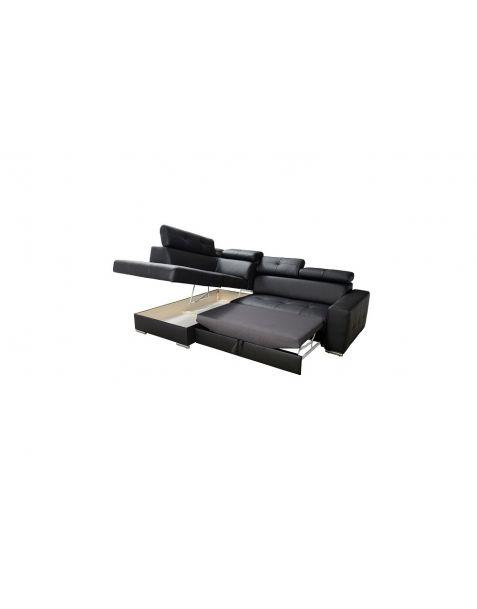 Kampinė sofa MARGO I 265x185 su miegojimo mechanizmu ir patalynės dėže
