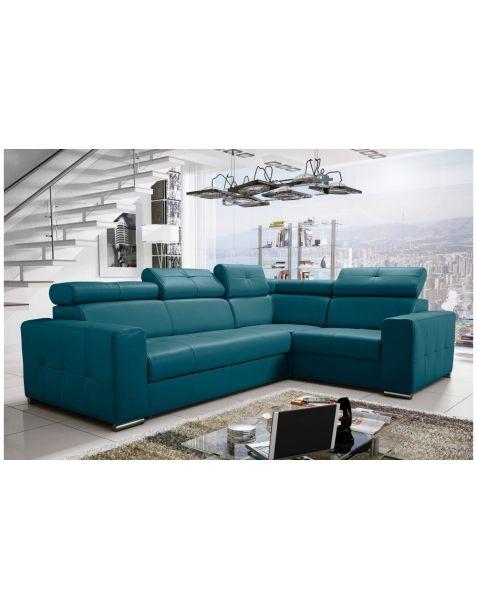 Kampinė sofa MARGO II 265x185 su miegojimo mechanizmu ir patalynės dėže