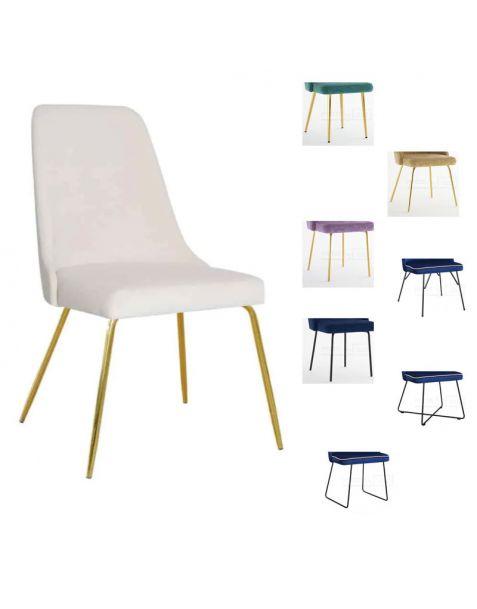 Valgomojo kėdė LEO M (pasirenkamos metalinės kojelės)