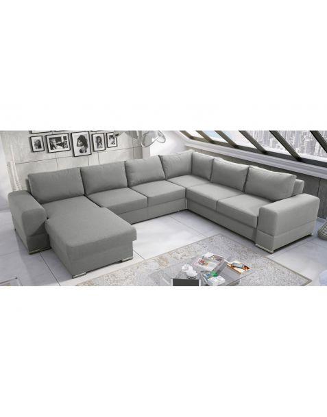 Kampinė sofa ZARA MAX II corner 175x340x265 su miegojimo mechanizmu ir patalynės dėže