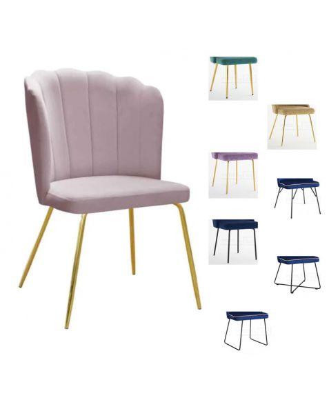 Valgomojo kėdė ROMANCE M (pasirenkamos metalinės kojelės)