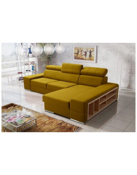 Kampinė sofa ROYAL corner 295x180 su miegojimo mechanizmu ir patalynės dėže