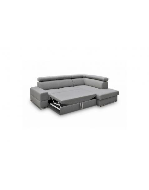 Kampinė sofa ROYAL I corner 260x185 su miegojimo mechanizmu ir patalynės dėže