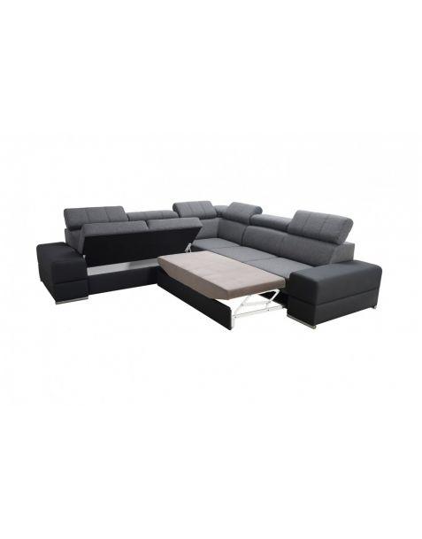 Kampinė sofa ROYAL MAX corner 280x280 su miegojimo mechanizmu ir patalynės dėže