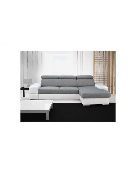 Kampinė sofa ROYAL MINI corner 260x160 su miegojimo mechanizmu ir patalynės dėže