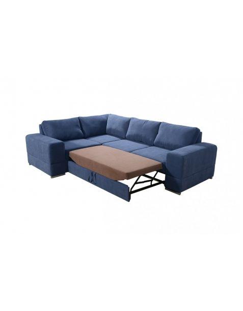 Kampinė sofa ZARA II corner 260x185 su miegojimo mechanizmu ir patalynės dėže