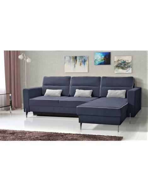 Kampinė sofa ART MINI 240x170 su miegojimo mechanizmu ir patalynės dėže