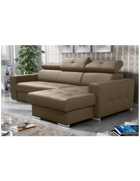Kampinė sofa MARGO 250x160 su miegojimo mechanizmu ir patalynės dėže